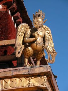 Lhasa, Tibet - Roof Detail of the Jokhang Temple