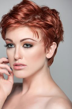 red easy short hairstyles for women