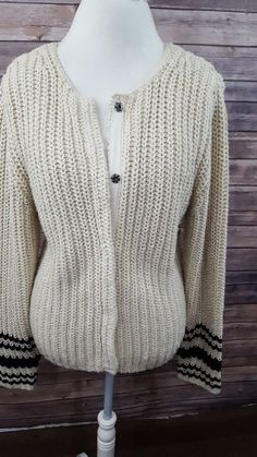 7fb270eb02cdf Eddie Bauer - Vintage Long Sleeve Sweater - Cotton Acrylic - Size Tall Large