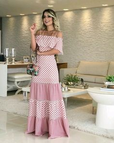 Vestidos Casuales Largos y Midi de Moda Stylish Dresses, Cute Dresses, Beautiful Dresses, Casual Dresses, Summer Dresses, Formal Outfits, Casual Outfits, The Dress, Dress Skirt