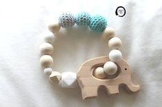Gripping ring  Silicone beads  Wood beads  Blue crochet  #gripring #gift #giftfornewmum #giftformumtobe #giftideas #blues #wood #crochet #silicon #madewithlove #handmade #madeinathens #madeingreece #babyboy #babygirl #etsyseller #babyinstagram #babyshower #giftforbaby #elephant #woodelephant Handmade Baby Gifts, Handmade Clothes, Handmade Crafts, Gifts For New Mums, Fabric Gifts, Toddler Gifts, Blue Beads, Etsy Jewelry, Nice Things
