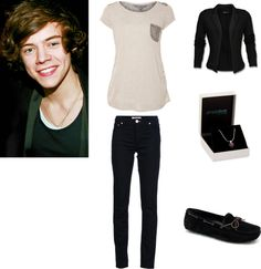 """""""Harry Styles Girlfriend Outfit #7"""" by harrysaddiction ❤ liked on Polyvore"""