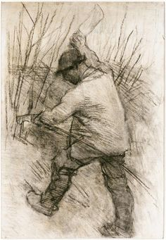 Sir George Clausen, The Hedger, Cookham Dean