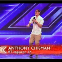 """Anthony Chisman sings """"I Need a Dollar"""" (Aloe Blacc cover). The X Factor (UK series 8, 2011).  10 seconds of singing is all I can find."""
