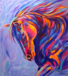 Tango, Abstract Horse Painting -- Theresa Paden