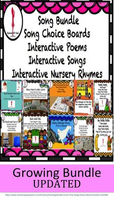 Growing Song and Poem Bundle This will be a growing bundle of songs and poems. Please note there is no exact time for the additions of new poems and songs, however, the bundle is discounted as is. There are 10 zip files. Circle Time Songs, Conversation Cards, School Songs, Choice Boards, English Language Learners, Beginning Of The School Year, Preschool Lessons, Teaching Resources, Teaching Materials