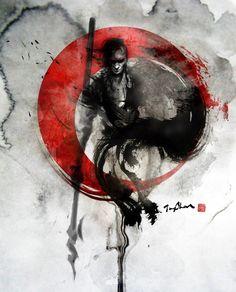 Jungshan(Rola Chang)張榕珊,臺灣女插畫師,她平日是一位技術公司的職員,擅長水墨風格插畫,她通常直接使用水墨繪畫,然後再進行數碼後期修飾:     http://www.zcool.com.cn/show/ZNzY0ODA=.html   http://jung-shan.blogspot.com/