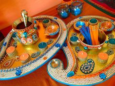 Mehndi Plates Images : Extra large paisley mehndi plate for the oil and rasam. see