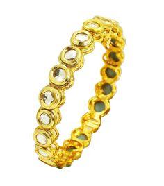 Other Ethnic, Regional & Tribal Jewelry Stone Gold, White Stone, Indian Bollywood, Bangle Set, Ladies Party, Tribal Jewelry, Kara, Party Wear, Traditional