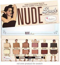 Sombras Nude Dude - THE BALM  Disponível no Brasil na loja The Beauty Box