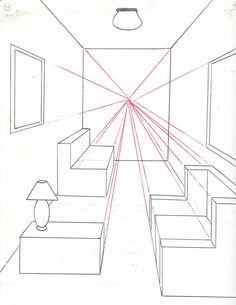 How To Draw A Room Using One Point Perspective