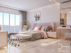 Querem projeto lindo? Aqui o sonho realizado o quarto de uma jovem com todos seus desejos.... destaque para o papel em listras super…