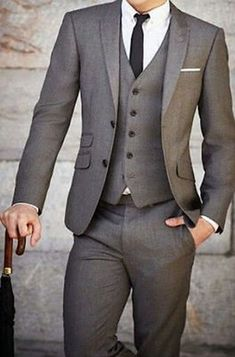 2019 New Mens Wedding Suits Groom Tuxedos Business Suit (Jac.- 2016 New Mens Wedding Suits Groom Tuxedos Business Suit (Jacket+Pants+Vest+Tie) - Suit Fit Guide, Terno Slim, Vest And Tie, Groom Tuxedo, Groom Suits, Guys Suits, Groom Attire, Suit Pattern, Dress Outfits