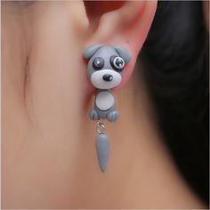Earring Type: Stud Earrings Item Type: Earrings Style: Trendy Gender: Women Material: Clay Metals Type: Zinc Alloy Shapepattern: Animal Model Number: Earrings