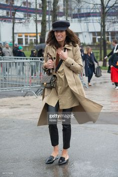 Freelance Stylist & Fashion Editor Viviana Volpicella waers a Balnciage trench coat on day 2 during Paris Fashion Week Autumn/Winter 2017/18 on March 1, 2017 in Paris, France.