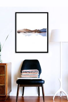 Poster Size Fine Art Print Abstract Watercolor Painting Rust