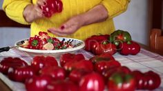Woman Removing Core To Peppers - Stock Footage | by eZeePicsStudio