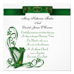 ShoppingIrish Wedding Invitation Harp Shamrocks And RibbonWe Provide You All Shopping Site Informations In