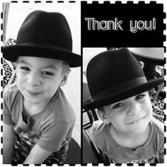 Here is my Cancer Warrior son Noah wearing his hat from Goorin Bros. A huge THANK YOU!!! He loves it!