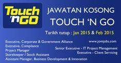Jawatan Kosong Touch N Go 2015. #kerjakosongtouchngo #touchngojobs2015