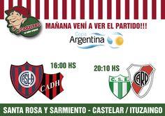 :: COPA ARGENTINA EN LO DE CARLITOS CASTELAR/ITUZAINGO :: Mañana los esperamos a todos en Santa Rosa y Sarmiento