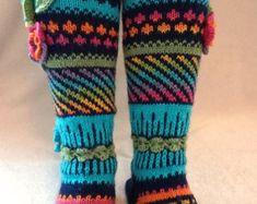 Etsy :: Your place to buy and sell all things handmade Knitting Socks, Hand Knitting, Knitting Patterns, Ravelry, Womens Wool Socks, Women Legs, Knee Socks, Leg Warmers, Etsy Store