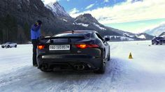 Jaguar Ftype, Range Rover SVR Ice Driving Experience, pilotage sur neige #IceDrivingExperience
