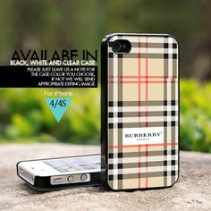 Burberry Inspired - For iPhone 4/4s Case, Hard Cover