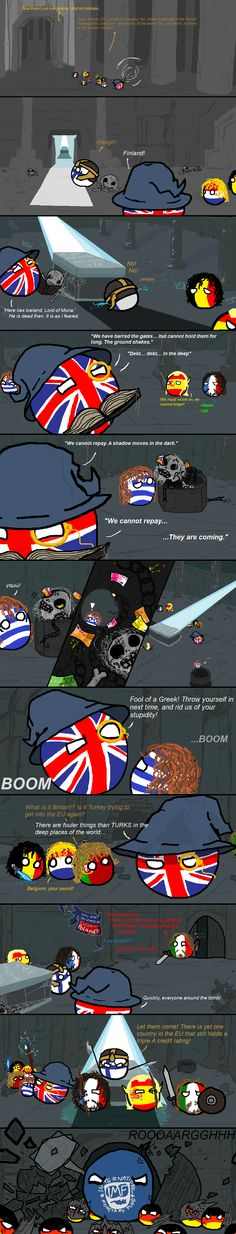 "LORD OF THE RINGS ""The fellowship of Europe. [berndmade]"" by modomario #LOrealBall #polandball #countryball"