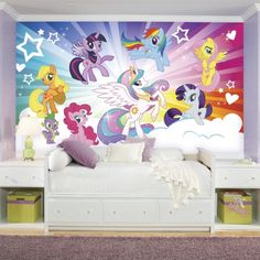 My Little Pony Cloud Burst XL Wallpaper Mural 10.5u0027 X 6u0027