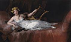 """Francisco de Goya: """"Joaquina Téllez-Girón y Pimentel, marquesa de Santa Cruz"""". Oil on canvas, 124,7 x 207,7 cm, 1805. Museo Nacional del Prado, Madrid, Spain"""