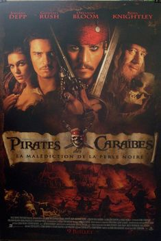 Pirates of the Caribbean - The Curse of the Black Pearl, w. Read about the adventures of Elizabeth Swann, Will Turner, and Jack Sparrow - characters of the blockbuster Hollywood movie Pirates of the Caribbean: The Curse of the Black Pearl. Movies And Series, Hd Movies, Disney Movies, Movies To Watch, Movies Online, Movies And Tv Shows, Movies Free, 2018 Movies, Funny Movies