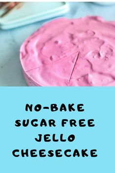 This Low Carb No-Bake Sugar Free Jello Cheesecake is amazingly Light and Fluffy! It's a lot lighter than Traditional Cheesecake and is extremely Quick and Easy to Make. Jello Cheesecake, Sugar Free Cheesecake, Healthy Cheesecake, Jello Desserts, Jello Recipes, Diabetic Desserts, Low Carb Desserts, Diet Recipes, Vegetarian Recipes