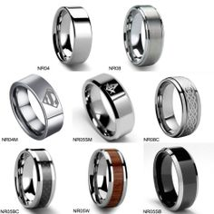 Men's TUNGSTEN Carbide Promise Ring Various Style Wedding Band Size 6-13