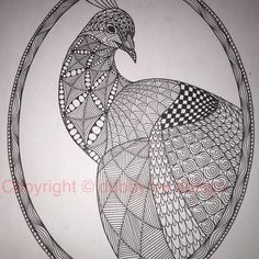 Peacock template fr Ben Kwok. #zentangle #dubbybydesign #zentangleinspiredart #inkdrawing #doodle #zendoodle #benkwok #ornationcreation