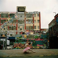 I love this place in Queens called the 5 Pointz. Love the art work. Dance and art..the best of both worlds!