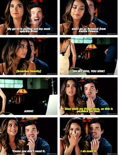 PLL Halloween special Ian (Ezra) face is so funny in the first one
