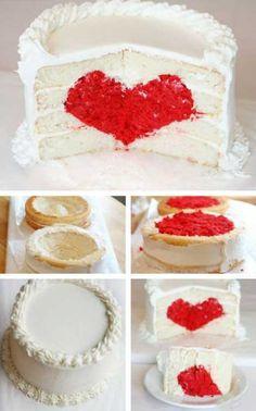 pastel de amor