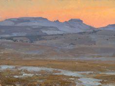 Clyde Aspevig, Study, Wyoming Dusk