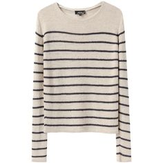 A.P.C. Chic Marinière Knit ($235) ❤ liked on Polyvore