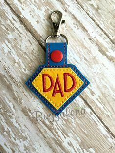 Super Dad Snap Tab/Key Fob