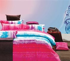 Lively Color - Fuchsia Blend Twin XL Comforter Set - College Ave Designer Series - Dorm Bedding For College Girls