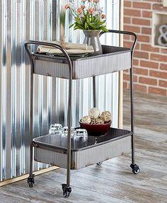 Corrugated Metal Rolling Cart
