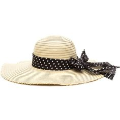 BLACK Beach Baby Woven Sun Hat ($13) ❤ liked on Polyvore featuring accessories, hats, black, brimmed hat, floppy brim hat, round hat, crown hat and brim sun hat