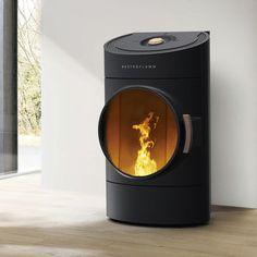 Pellet heating stove / contemporary / steel / ceramic CLOU AUSTROFLAMM