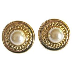 Check out this item at One Kings Lane! Givenchy Gold-Plate Shield Earrings
