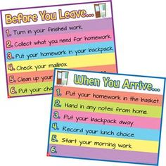 Really Good Stuff When You Arrive and Before You Leave Posters Set Classroom Routines, Classroom Supplies, Classroom Ideas, 4th Grade Classroom, Classroom Walls, Social Skills Activities, Teacher Organization, Organized Teacher, Really Good Stuff