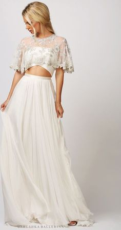 4f8c8948d303 Babushka Ballerina Amelia skirt New Wedding Dress on Sale 45% Off Two Piece Wedding  Dress. Stillwhite