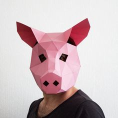 Pig Paper Mask / 3D Pattern