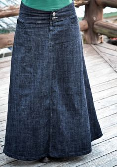 Eager Hands: |~ Dark Denim Wide Waistband Skirt  how to sew a long skirt - I will figure this out, rather than pay $50-60 a pop!